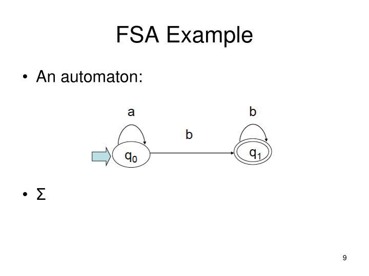 FSA Example