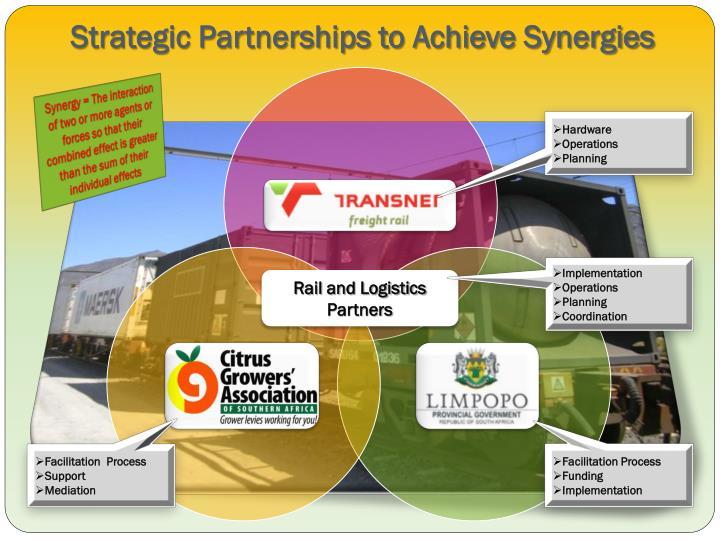 Strategic Partnerships to Achieve Synergies