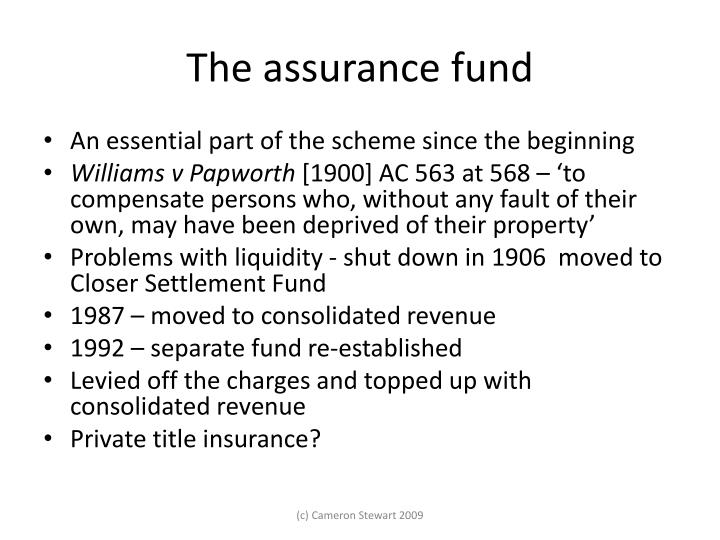 The assurance fund