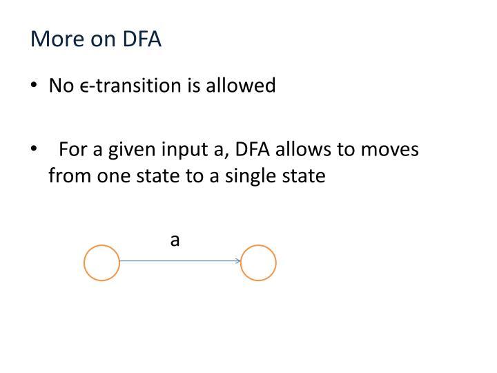 More on DFA