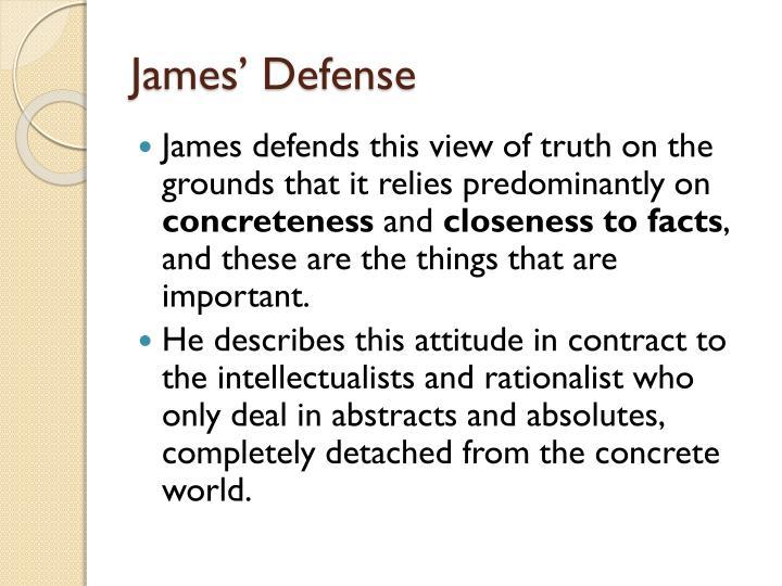 James' Defense