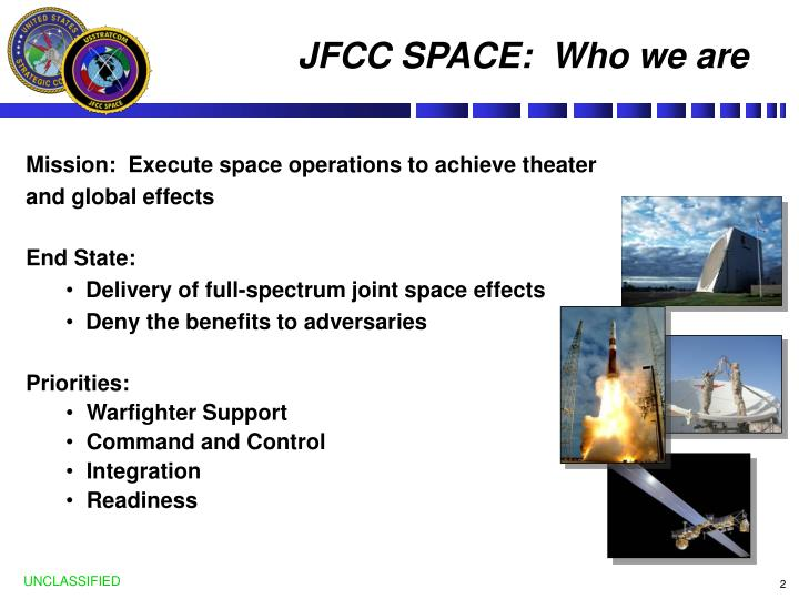 JFCC SPACE:  Who we are