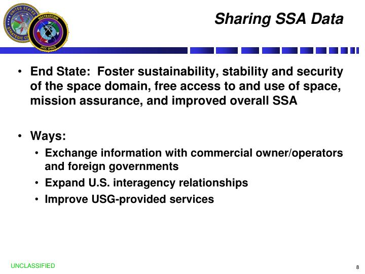 Sharing SSA Data