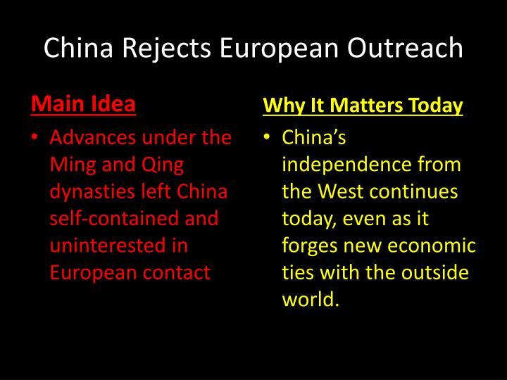 China rejects european outreach1