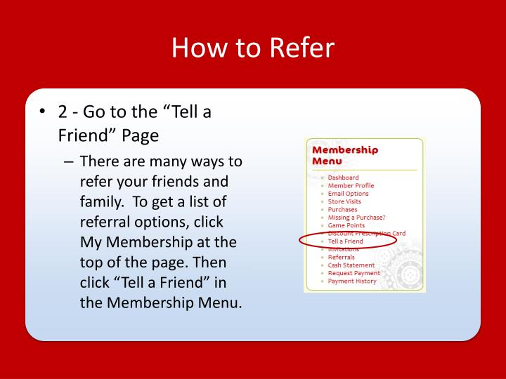 How to Refer