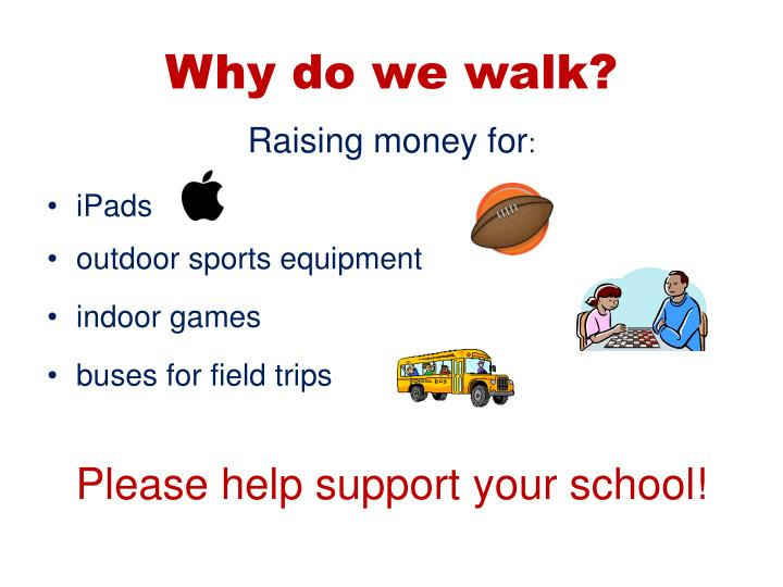 Why do we walk?