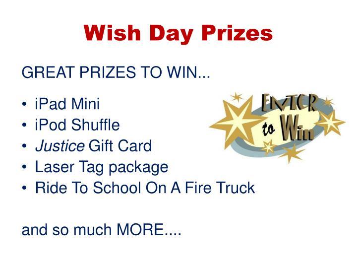 Wish Day Prizes