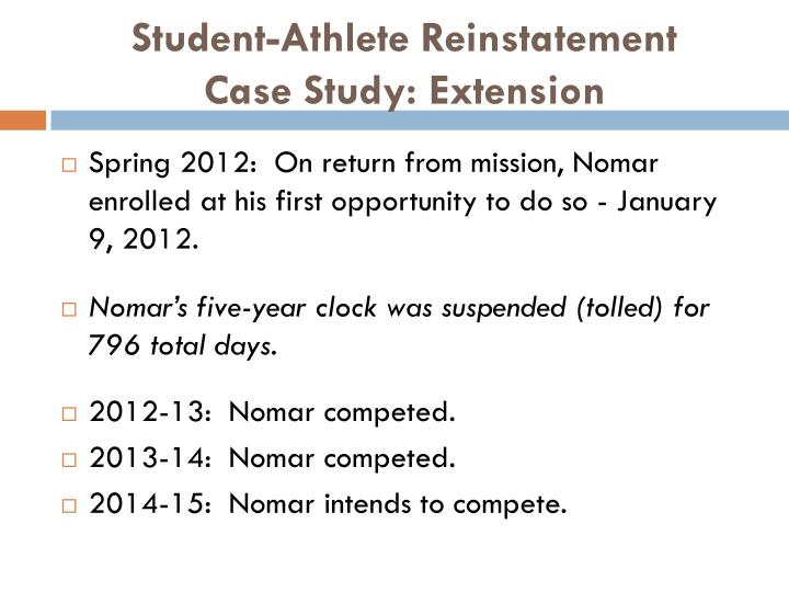 Student-Athlete Reinstatement