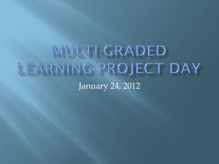 Multi graded learning project day