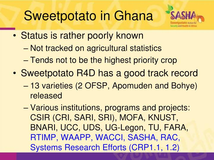 Sweetpotato in ghana