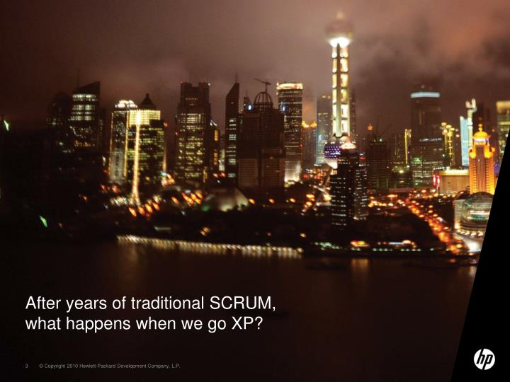 After years of traditional SCRUM, what happens when we go XP?