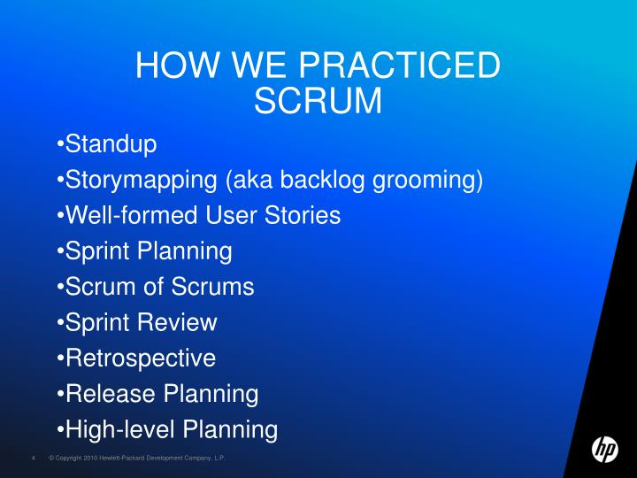 How we practiced