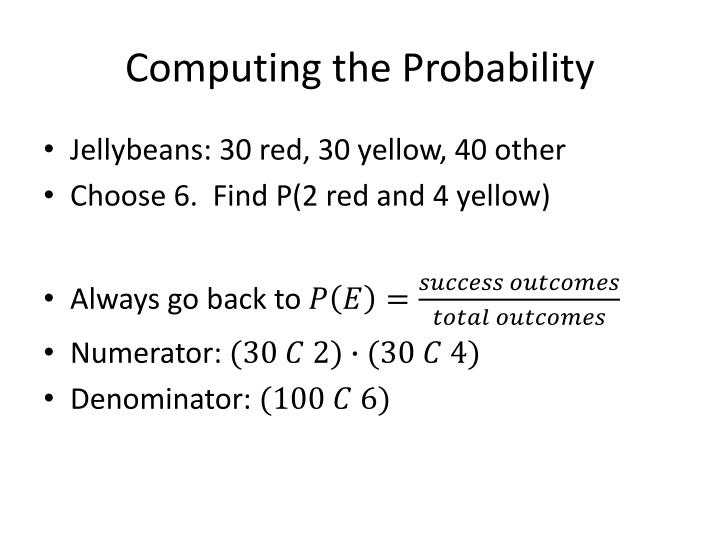 Computing the Probability