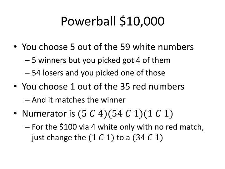 Powerball $10,000