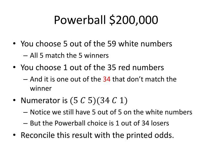 Powerball $200,000