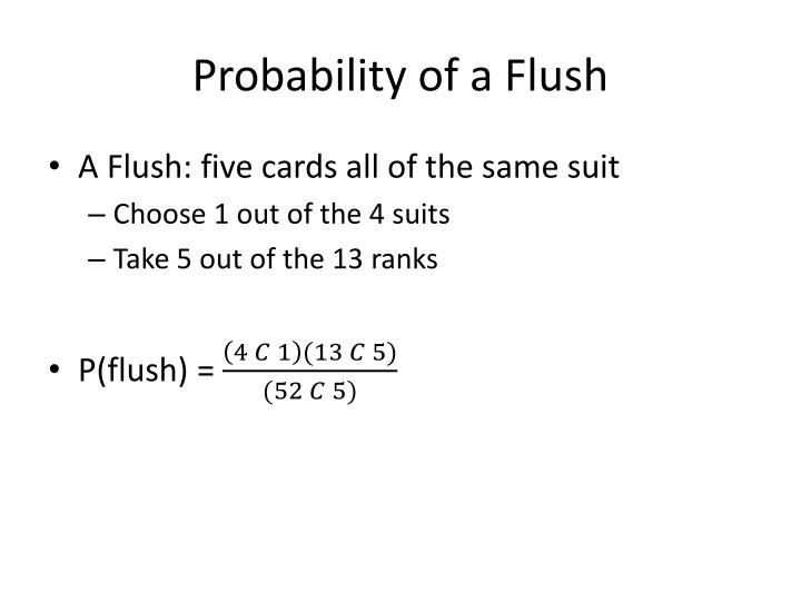 Probability of a Flush