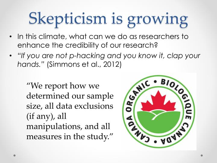 Skepticism is growing