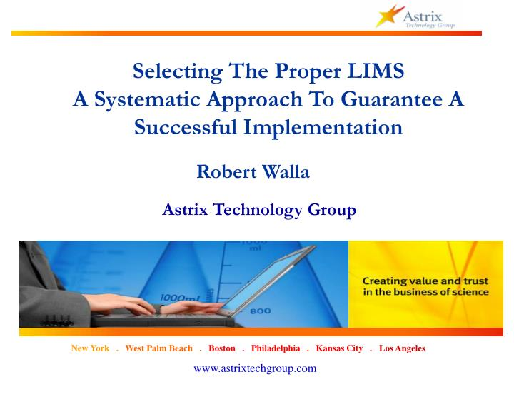 Selecting The Proper LIMS