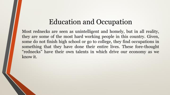 Education and Occupation