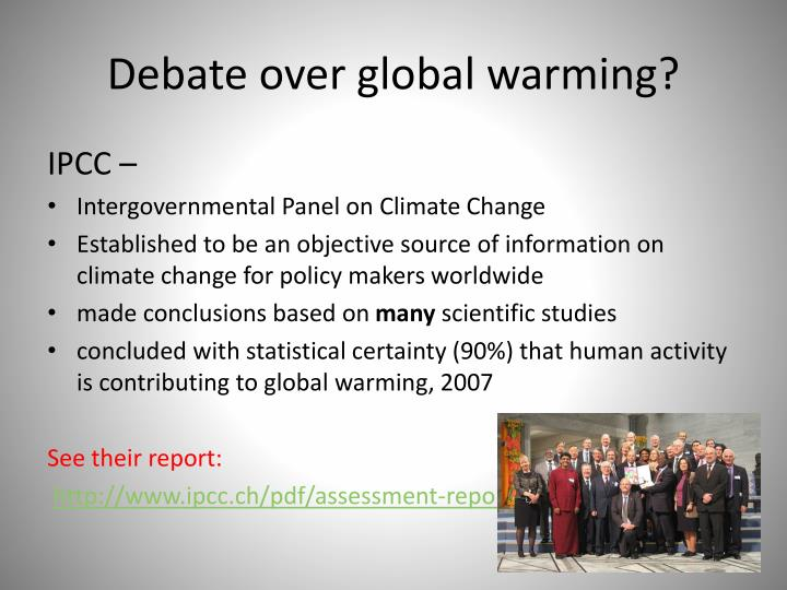 Debate over global warming?