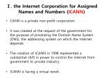 the internet corporation for assigned names and numbers icann
