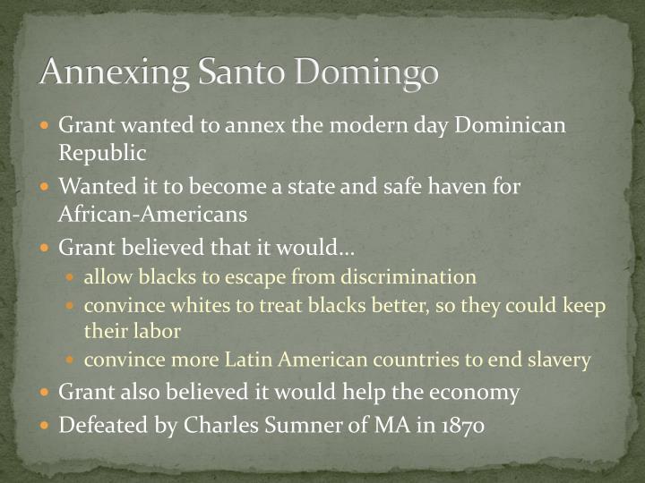 Annexing Santo Domingo