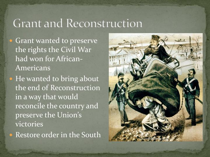 Grant and Reconstruction