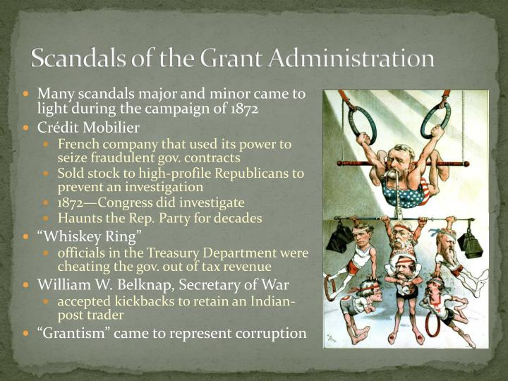 Scandals of the Grant Administration