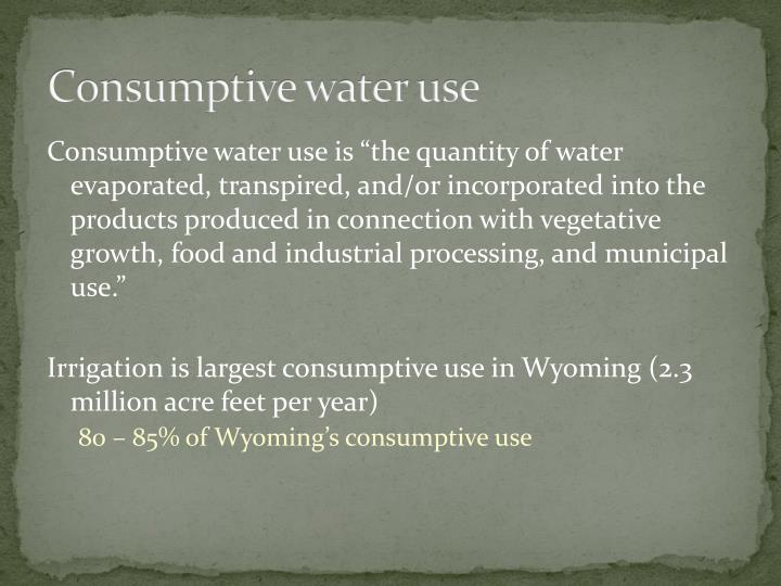 Consumptive water use