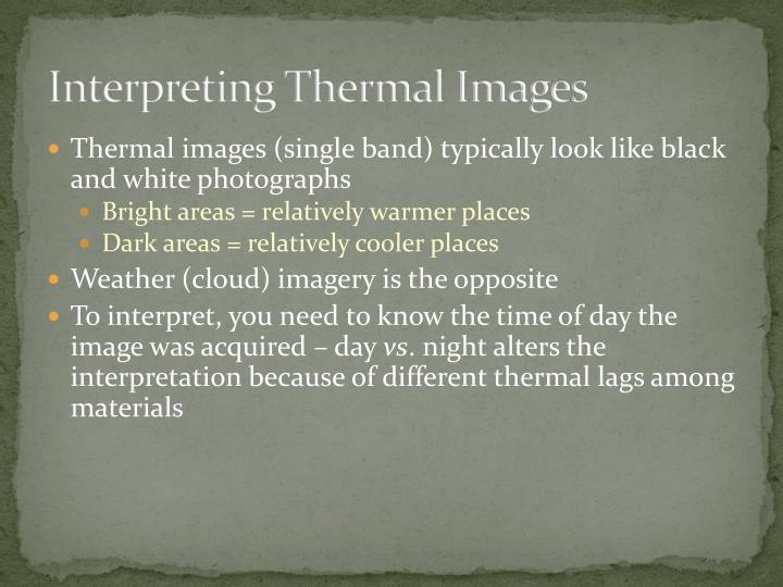 Interpreting Thermal Images