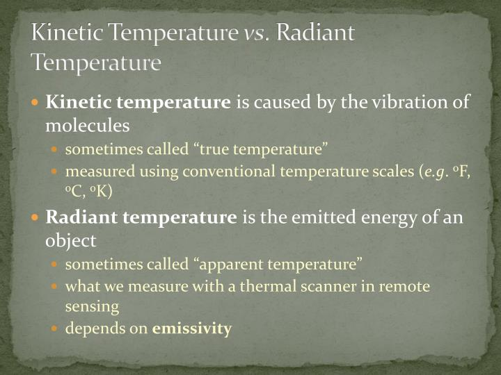 Kinetic Temperature