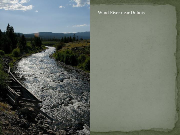 Wind River near Dubois