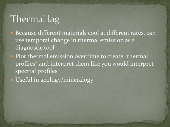 Thermal lag