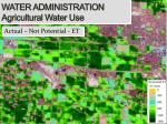 water administration agricultural water use