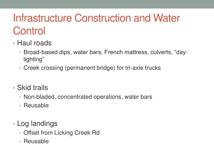 Infrastructure Construction and Water Control