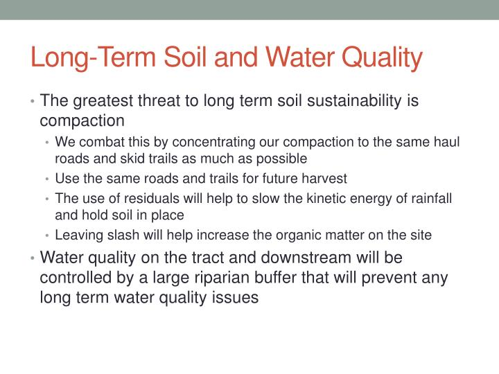 Long-Term Soil and Water Quality