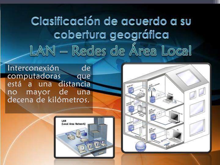 Clasificación de acuerdo a su cobertura geográfica