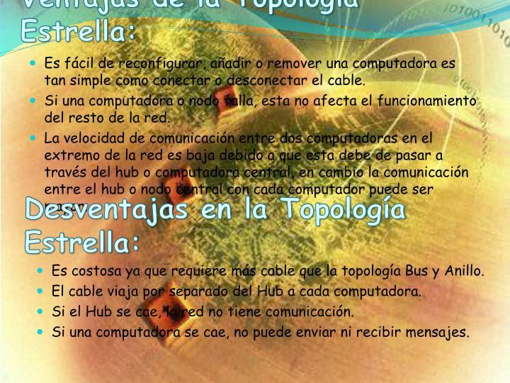 Ventajas de la Topología Estrella: