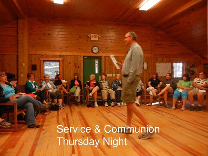 Service & Communion