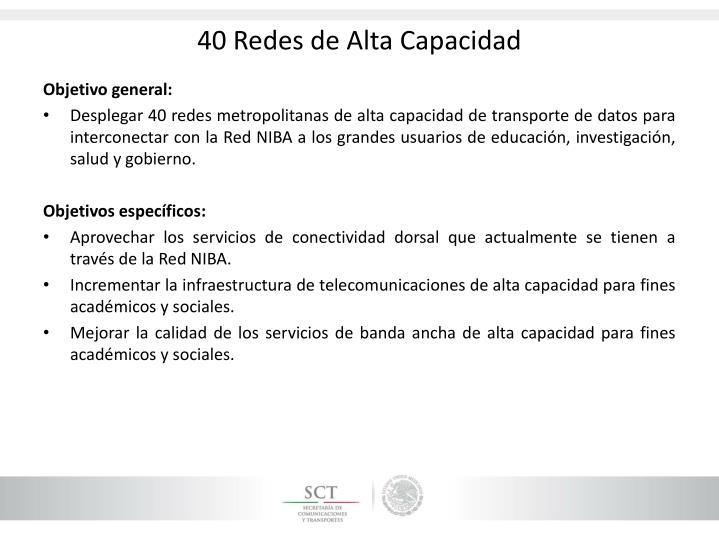 40 Redes de Alta Capacidad
