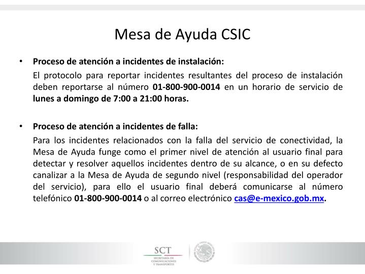 Mesa de Ayuda CSIC