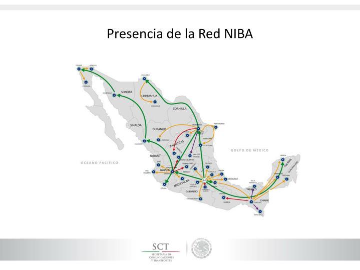 Presencia de la Red NIBA