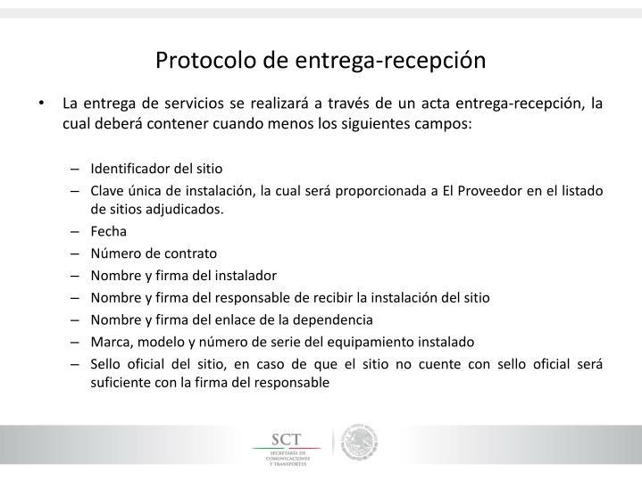 Protocolo de entrega-recepción