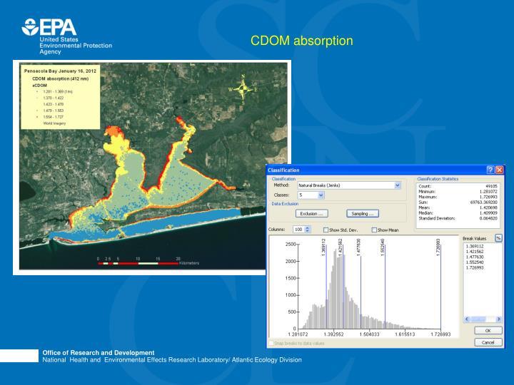 CDOM absorption