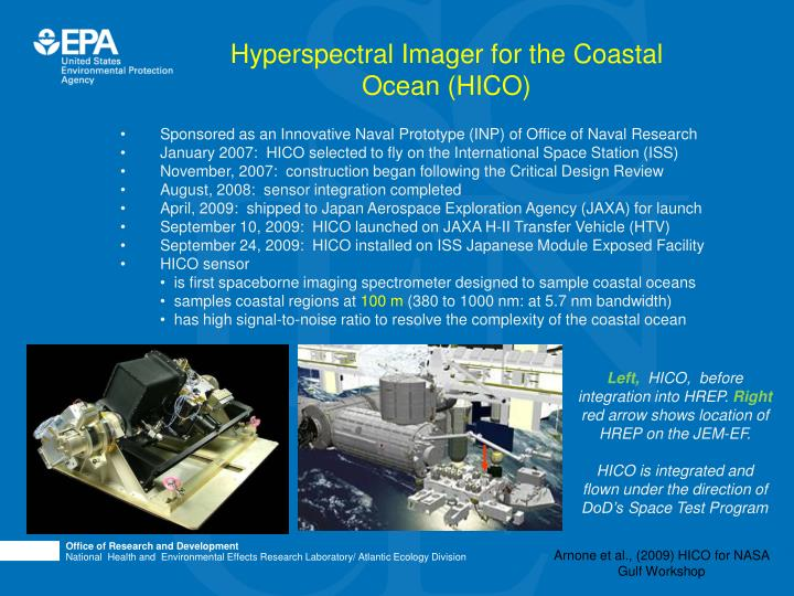 Hyperspectral Imager for the Coastal Ocean (HICO)