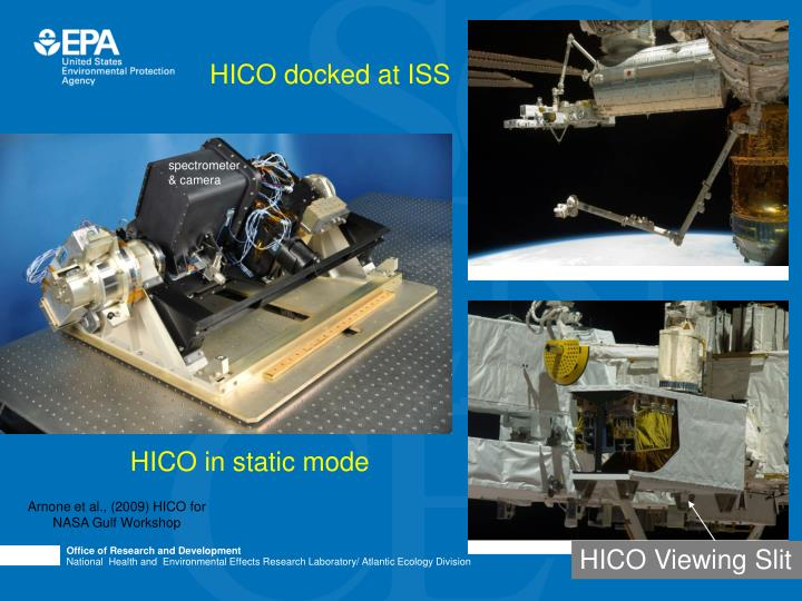 HICO docked at ISS