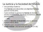 la justicia y la sociedad del mundo