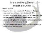 mensaje evang lico y misi n de cristo