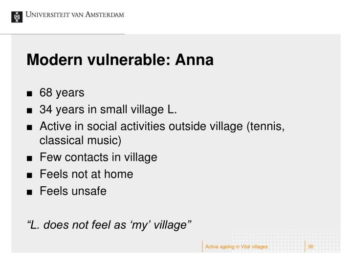 Modern vulnerable: Anna