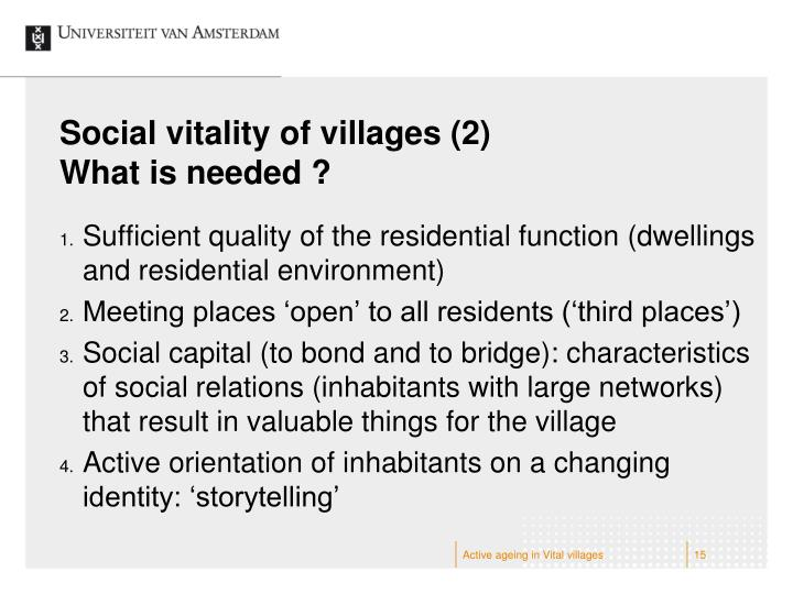 Social vitality of villages (2)